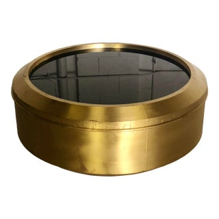 Bernhardt Interiors Carnaby Round Drum Brass Coffee Table For Sale