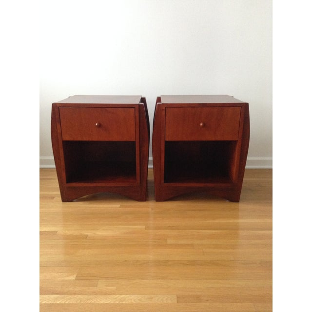 1990s Sergio and Monique Savarese for Dialogica Nightstands - A Pair - Image 2 of 11