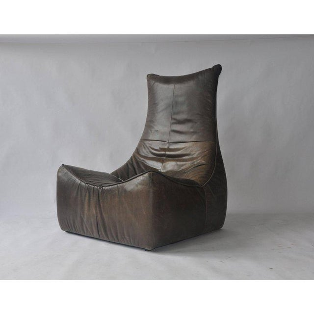 1970s Leather Chair by Gerard Van Den Berg for Montis For Sale - Image 9 of 9