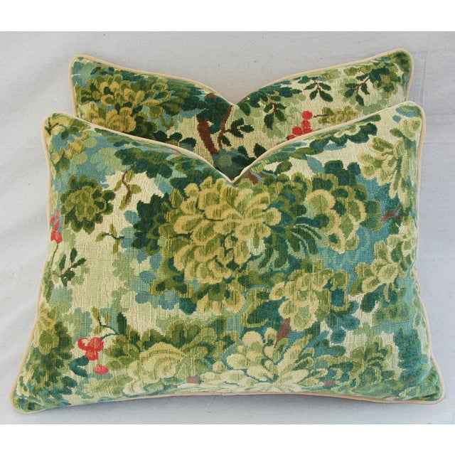 Designer Scalamandre Velvet Marly Pillows - Pair - Image 2 of 11