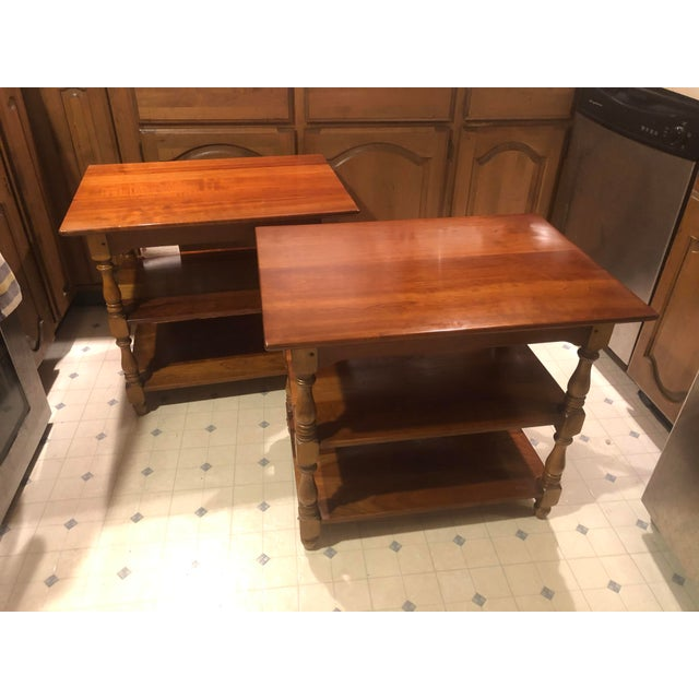 1950s Cherry Stickley End Tables - a Pair For Sale - Image 13 of 13