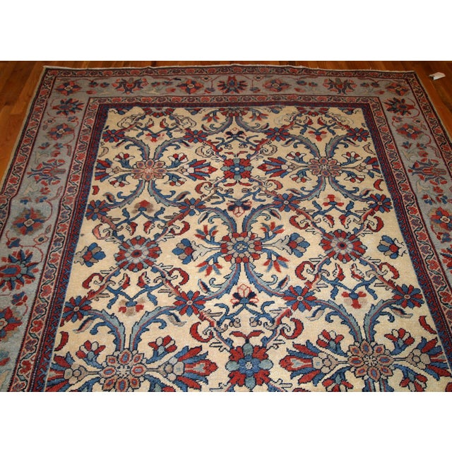 1900s Handmade Antique Persian Mahal Rug 9.2' X 11.6' For Sale In New York - Image 6 of 11
