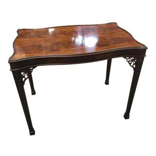 Vintage Baker Furniture Burled Wood Accent Table For Sale