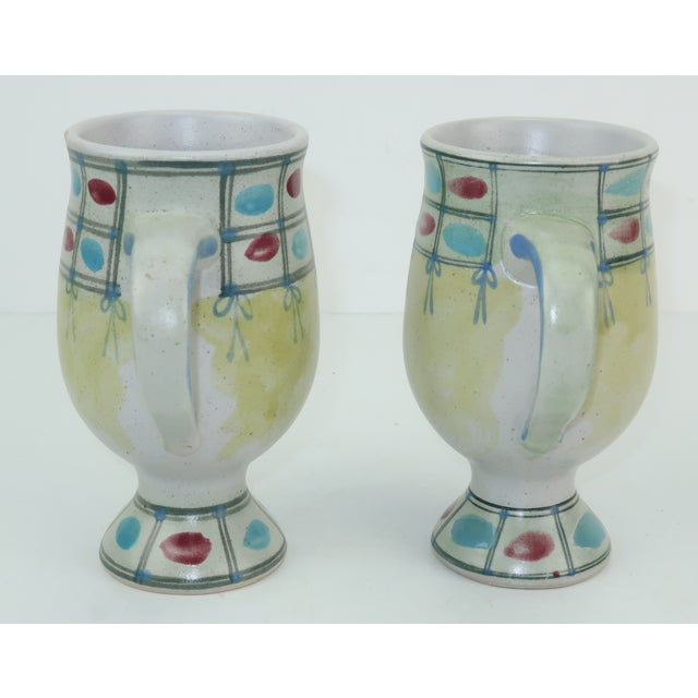 Mid-Century Modern Vintage Fitz & Floyd Figural Mugs Cups, a Pair For Sale - Image 3 of 11