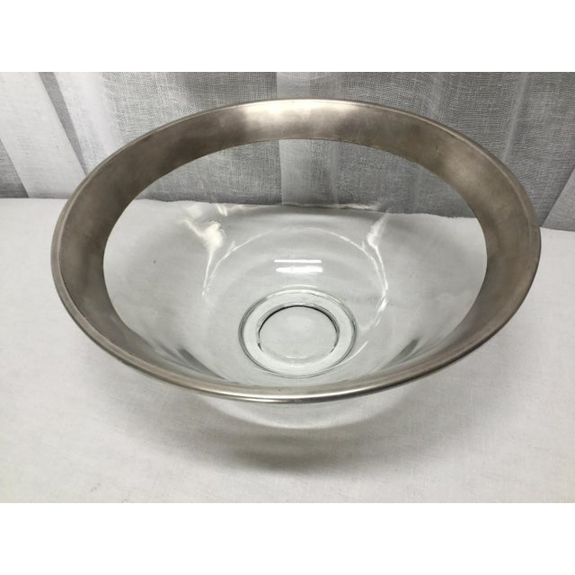 Mid-Century Modern 1970s Dorothy Thorpe Crystal Serving Bowl For Sale - Image 3 of 7