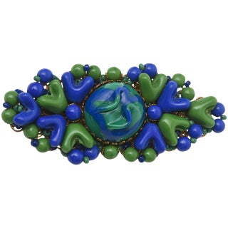 MIriam Haskell Resin/ Bead Brooch/ Pin For Sale