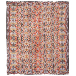 Vintage Swedish Abstract Floral Rug - 10′ × 12′ For Sale