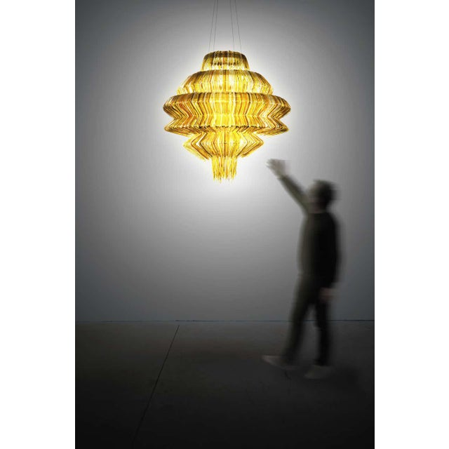 Modern Brilli D Chandelier in Gold Resin by Jacopo Foggini For Sale - Image 3 of 7