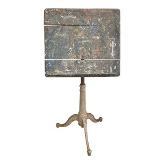Folk Art Drafting Table Style Easel For Sale