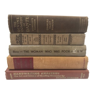 Antique Browns Books - Set of 5