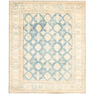 "Hand-Knotted Ushak Rug-7'11"" X 9'9"" For Sale"