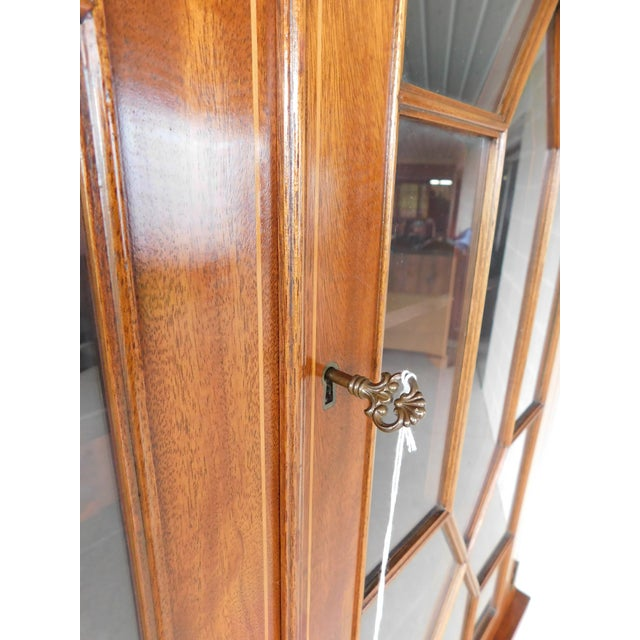 "Biggs Federal Hepplewhite Style 1Pc Mahogany Banded Cabinet 90""h X 40""w For Sale - Image 12 of 13"