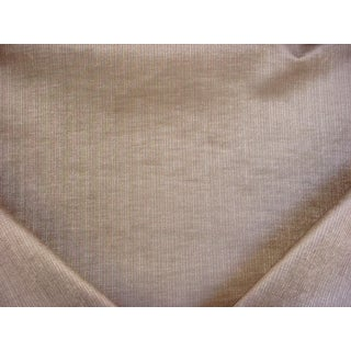 Art Deco Schumacher Antique Strie Velvet Truffle Brown Upholstery Fabric - 5-5/8y For Sale