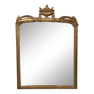Vintage French Carved Gilt Wood Mirror For Sale