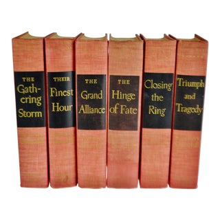Vintage 1940's - 1950's Winston S. Churchill the Second World War Books - Complete 6 Book Set For Sale