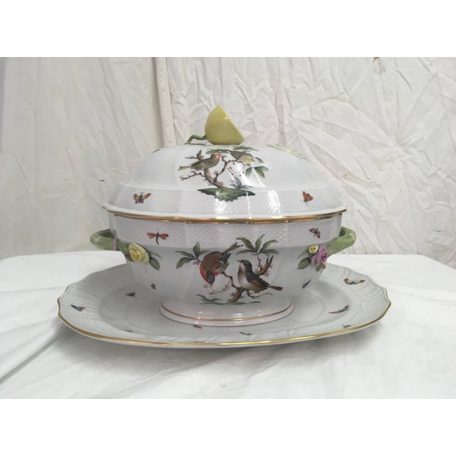 Herend Rothschild Tureen W/ Underplate For Sale - Image 13 of 13
