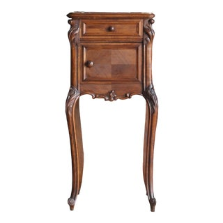 Antique French Marble Top Nightstand For Sale