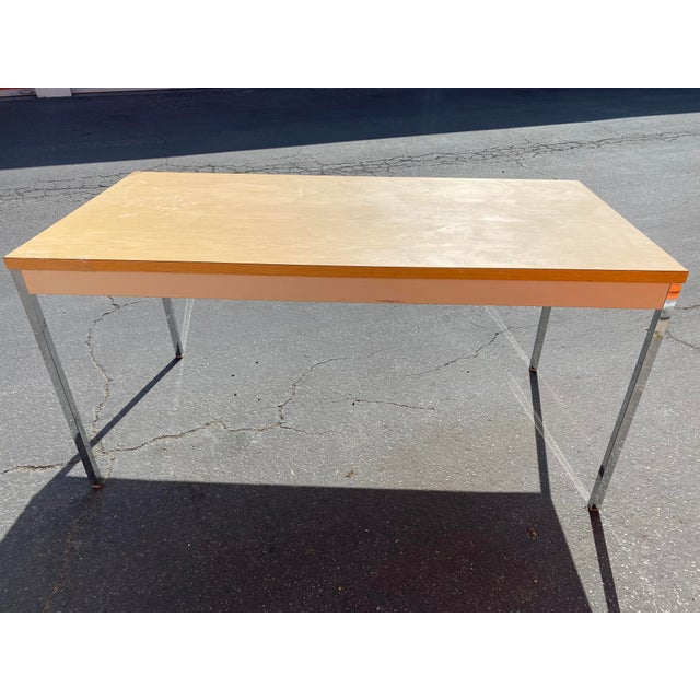 1980s 1980s Vintage Steelcase Metal Writing Desk For Sale - Image 5 of 13