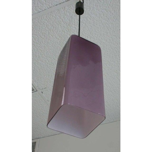 Italian Cased Glass Pendants For Sale - Image 4 of 9