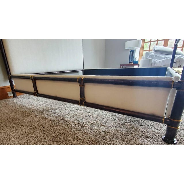 Henredon Furniture Jeffrey Bilhuber Hammered Metal Bank St Queen Canopy Bed For Sale - Image 12 of 13