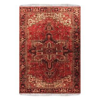 "Semi Antique Heriz Wool Persian Rug-7'10"" X 11'2"" For Sale"