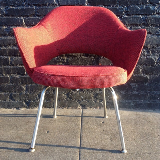 Eero Sarrinen Red Executive Chair - Image 2 of 5