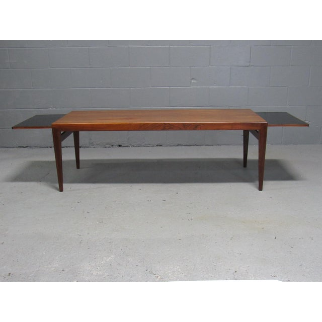 Wood Severin Hansen for Haslev Mid-Century Danish Rosewood Extending Coffee Table For Sale - Image 7 of 7