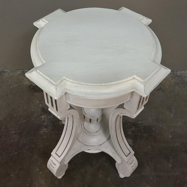 French 19th Century French Henri II Painted Lamp Table ~ Pedestal For Sale - Image 3 of 11