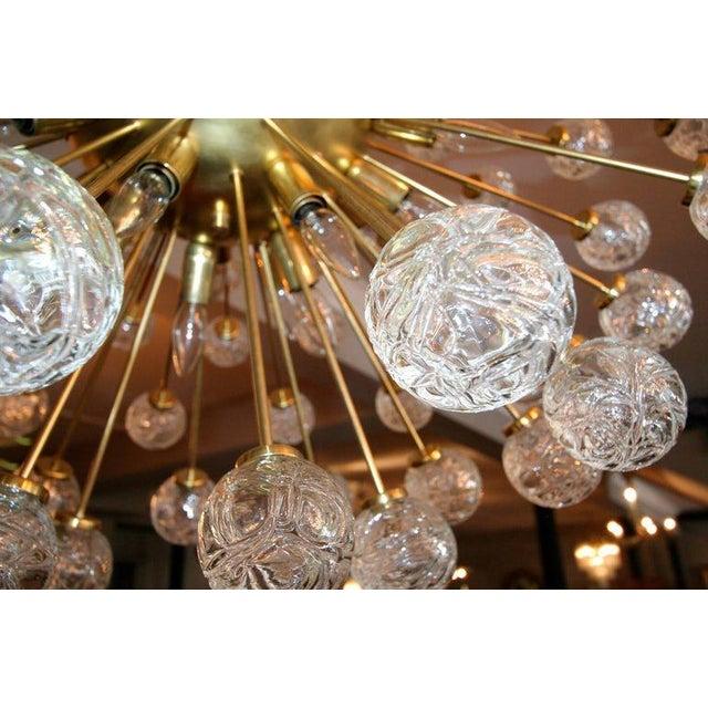 Metal Rose Murano Glass Sputnik Chandelier For Sale - Image 7 of 9