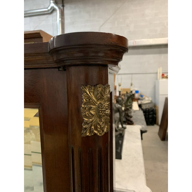 Brown 1910s Antique Louis XVI Style Mahogany Bookcase / Vitrine For Sale - Image 8 of 13