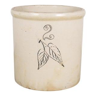 Ceramic 2 Gallon Crock by Red Wing Union Stoneware Company C.1915