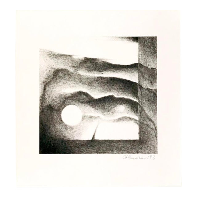 1983 Abstract Landscape Lithograph by Stanislaw Panzakiewicz For Sale