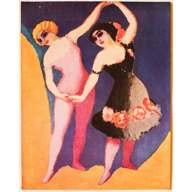"""A beautiful and fun, large vintage original period tipped-in lithograph after painting """"Les Danseuses"""" (The Dancers, 1906)..."""