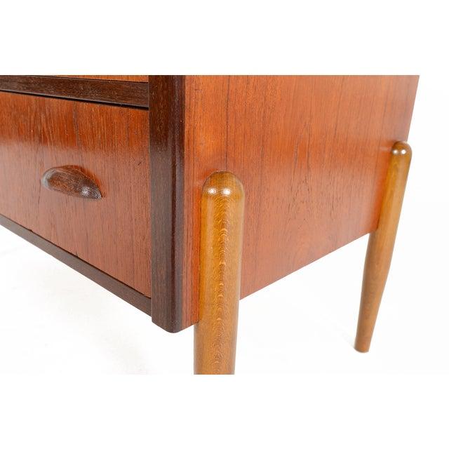 Danish Modern Three-Drawer Teak and Oak Chest - Image 8 of 9