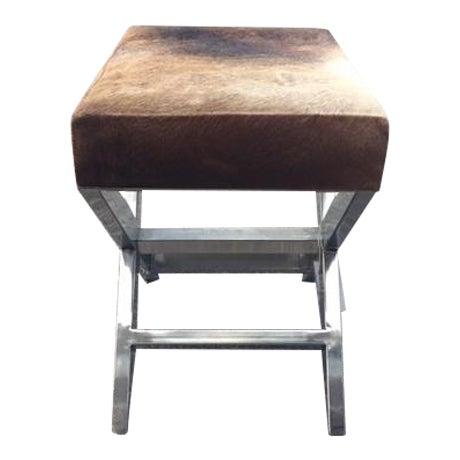 Shari Cowhide Small Bench - Image 1 of 3