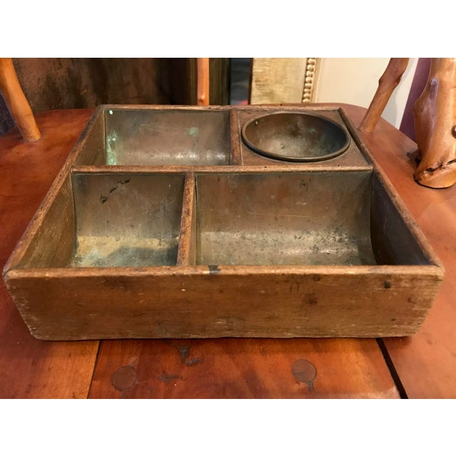 Lovely divided box perfect for an office or entrance.
