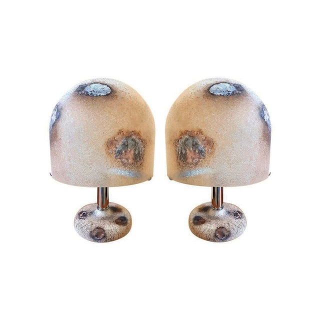 Pair of Alfredo Barbini Murano Glass Lamps For Sale In Boston - Image 6 of 6
