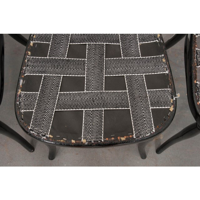 Bentwood Set of Four Ebony Thonet Bentwood Side Chairs For Sale - Image 7 of 13