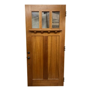 Arts and Crafts Craftsman Front Door With Dentil Detailing For Sale