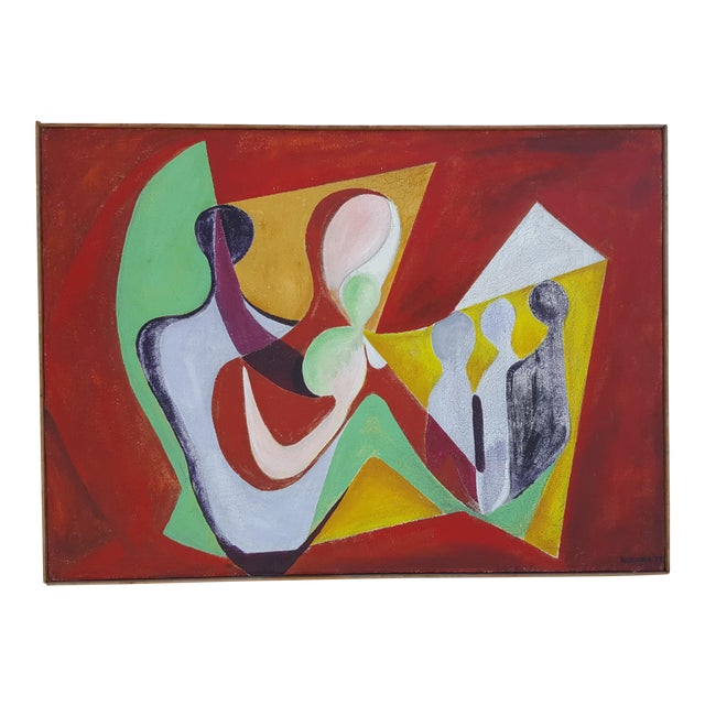 1977 Intermezzo Abstract Painting By Chester T. Kuziora - Image 1 of 11