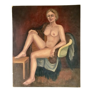 Vintage Nude Female Painting For Sale