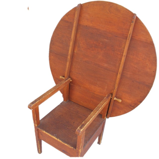18th-Century New England Round Hutch Table For Sale - Image 5 of 11