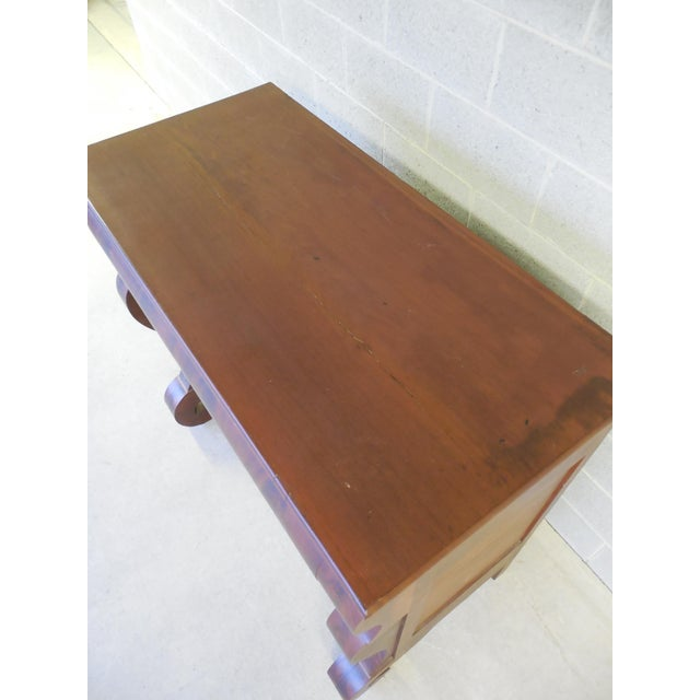 Antique Empire Period Mahogany Butler Chest Desk For Sale - Image 9 of 11
