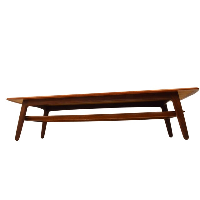 Mid-Century Svend A. Madsen Teak Coffee Table For Sale - Image 5 of 7