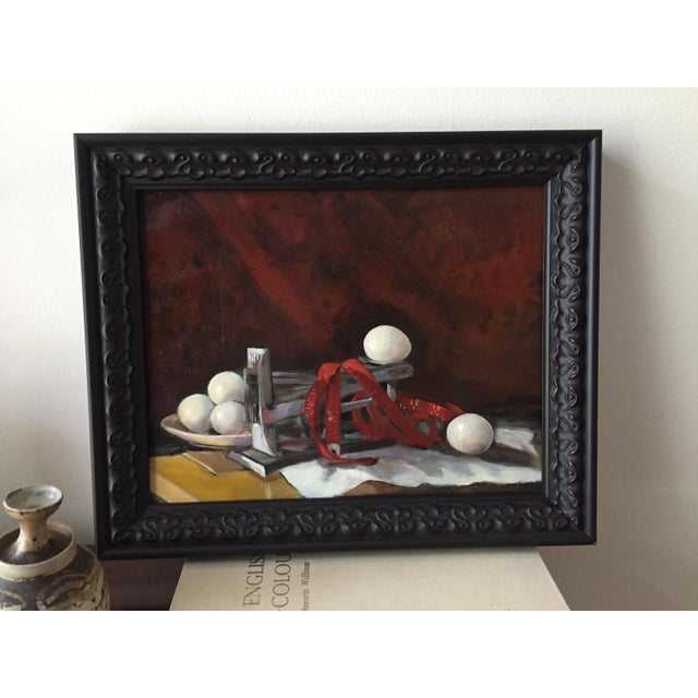 """Realism """"Measurement"""" Original Still Life Oil Painting by Marina Movshina For Sale - Image 3 of 5"""