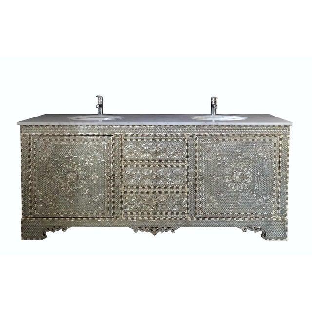 Mother Of Pearl Inlay Bathroom Vanity Chairish