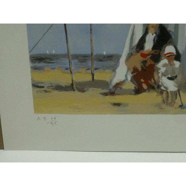 """American Frederick McDuff """"Tents on the Beach"""" Limited Edition Print For Sale - Image 3 of 5"""