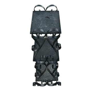 MCM Wrought Iron # Shelf Table Stand For Sale