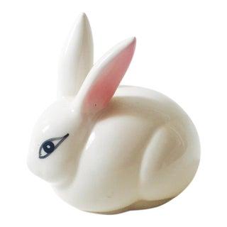 Vintage Ceramic Bunny Cotton Ball Holder