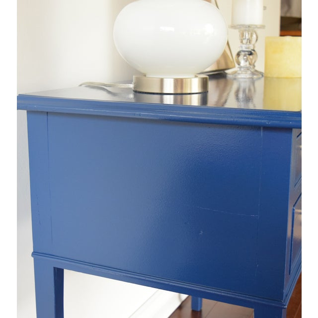 Blue Entryway Console Table For Sale - Image 7 of 9